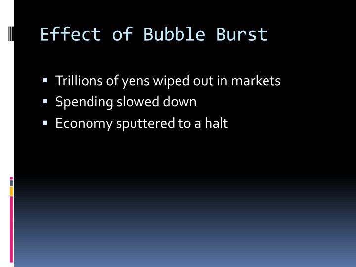 Effect of Bubble Burst