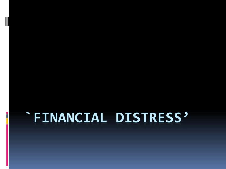 `Financial Distress'