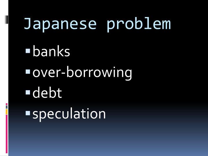Japanese problem