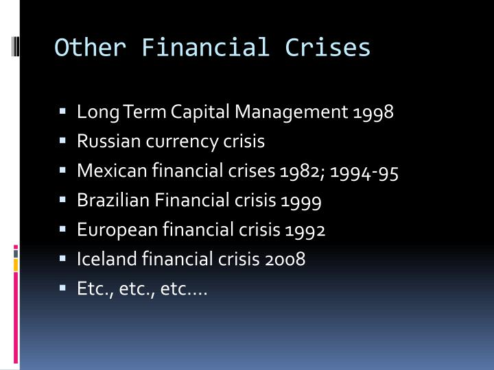 Other Financial Crises