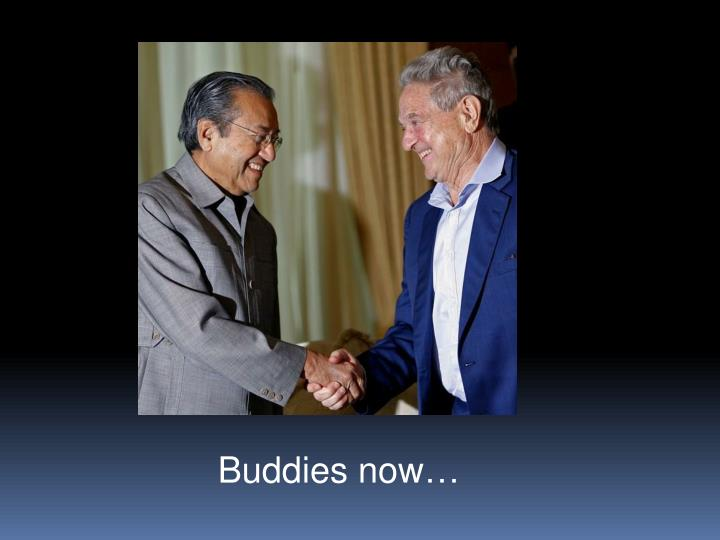 Buddies now…