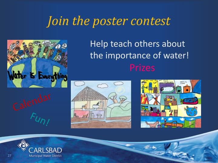 Join the poster contest