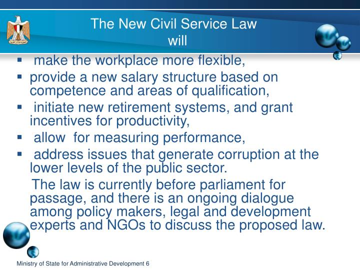 The New Civil Service Law