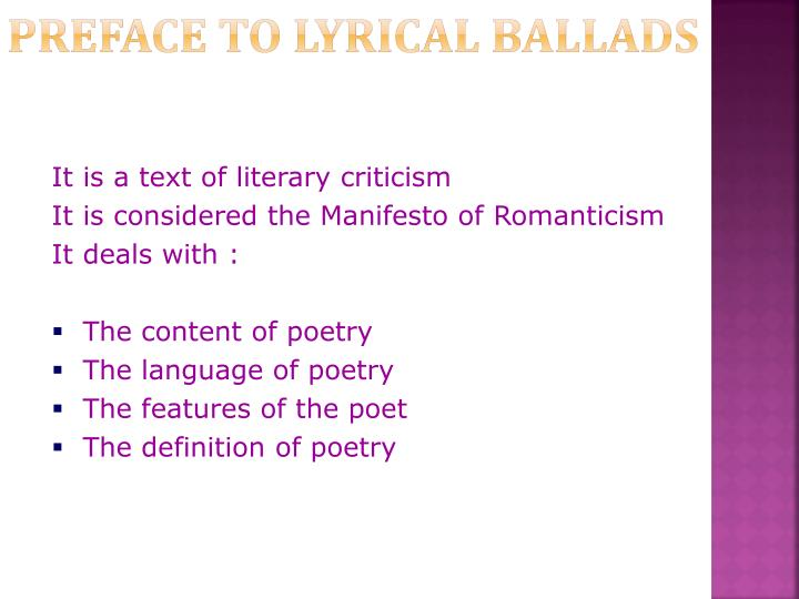 what part does nature play in lyrical ballads essay
