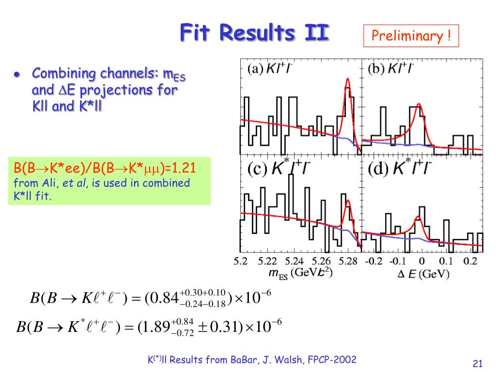 Fit Results II