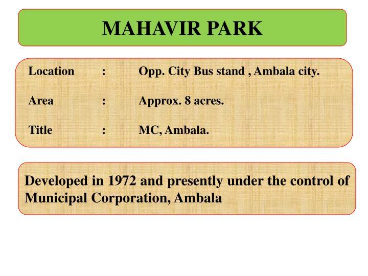 MAHAVIR PARK