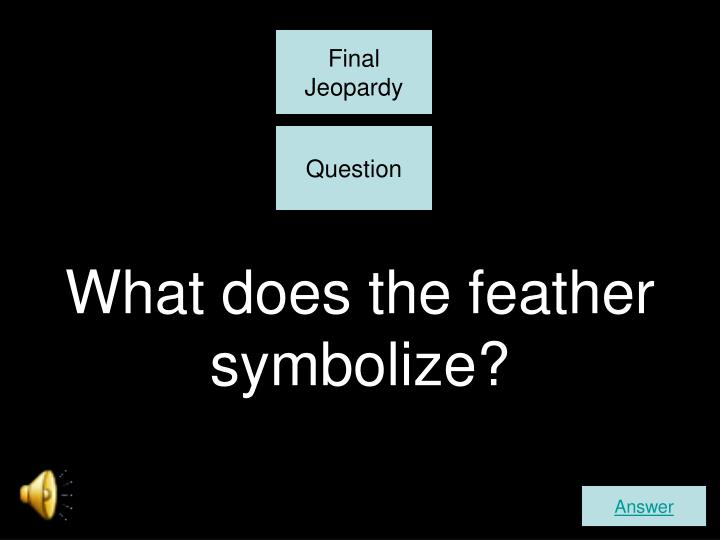 What does the feather symbolize?