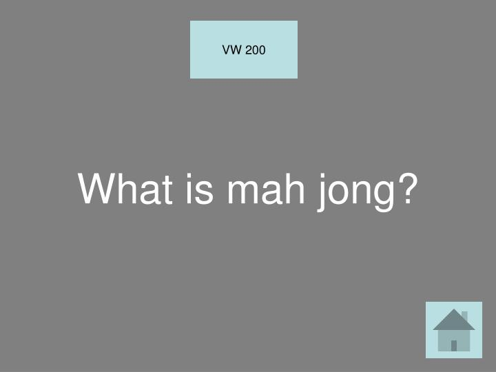 What is mah jong?