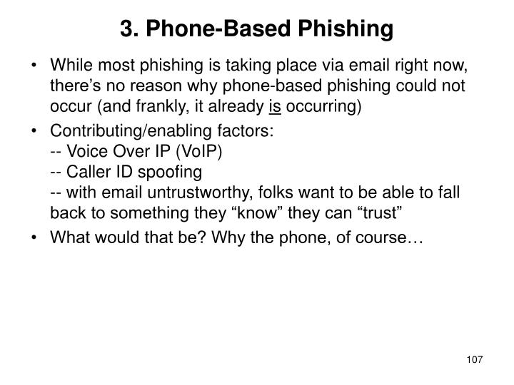 3. Phone-Based Phishing