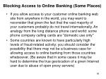 blocking access to online banking some places
