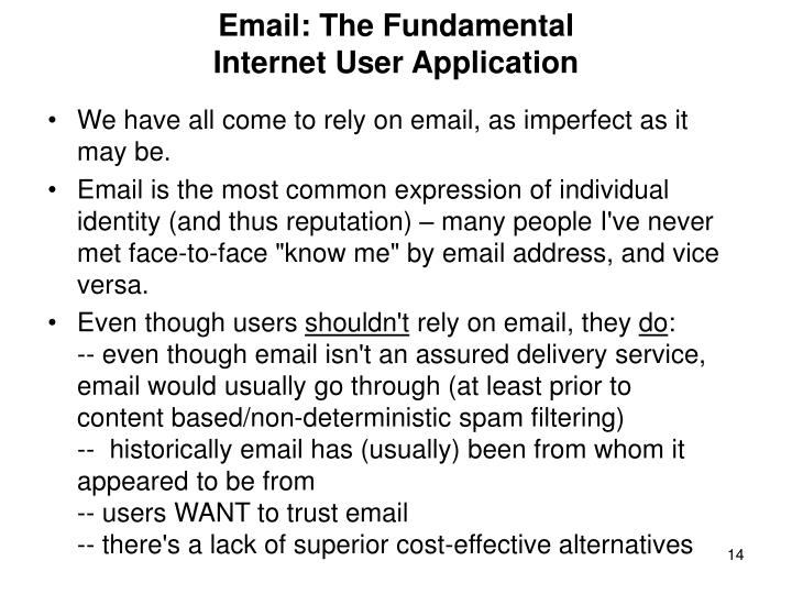 Email: The Fundamental