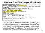 headers from the sample ebay phish