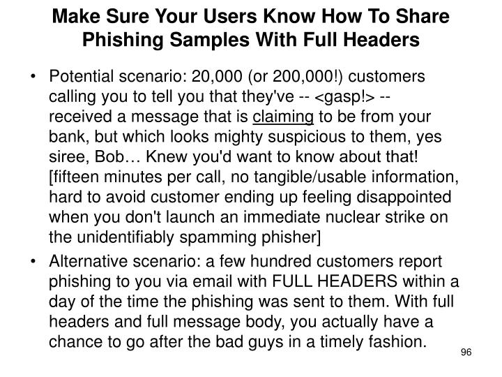 Make Sure Your Users Know How To Share Phishing Samples With Full Headers