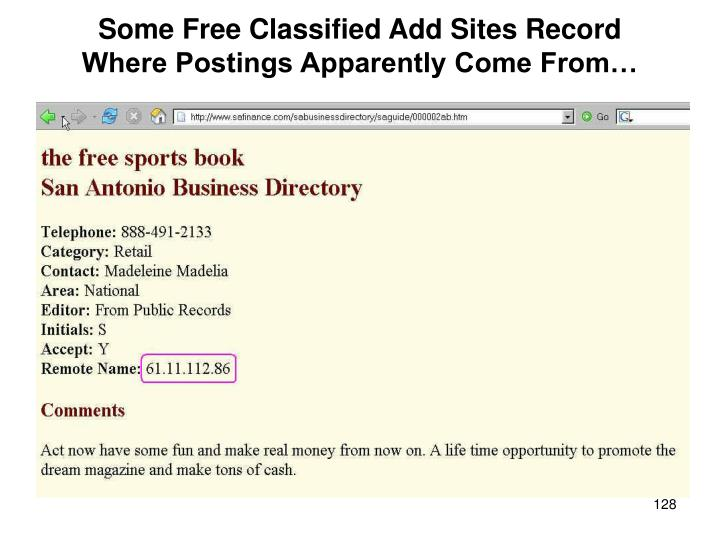 Some Free Classified Add Sites Record