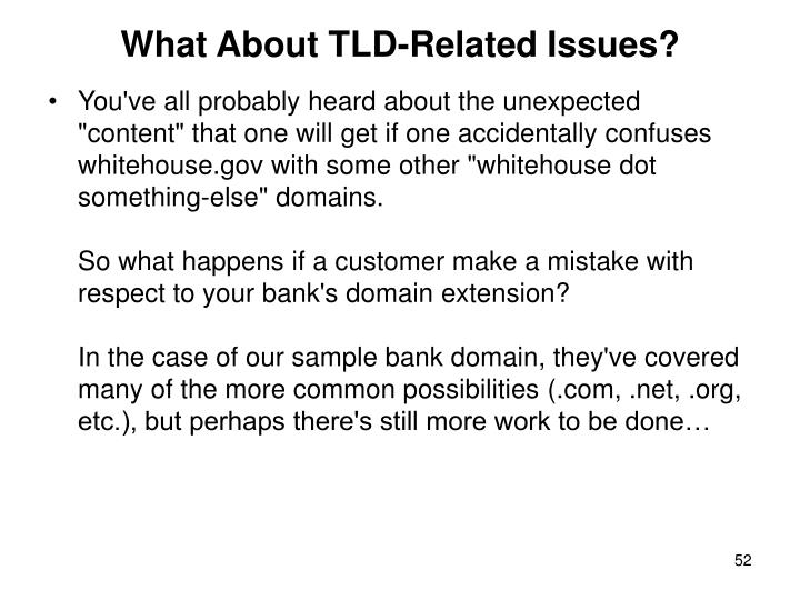 What About TLD-Related Issues?