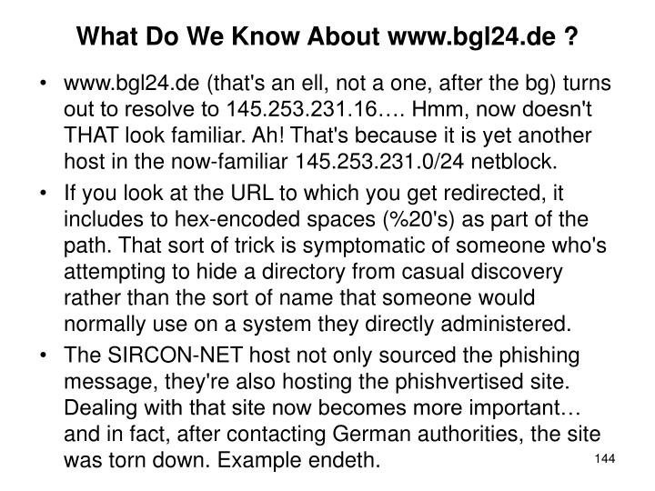 What Do We Know About www.bgl24.de ?