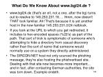 what do we know about www bgl24 de