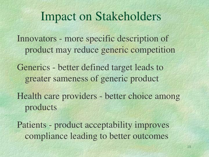 Impact on Stakeholders