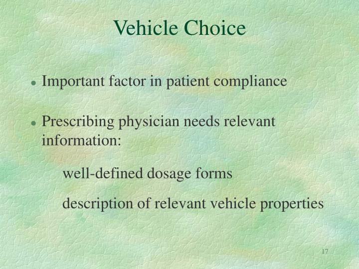 Vehicle Choice