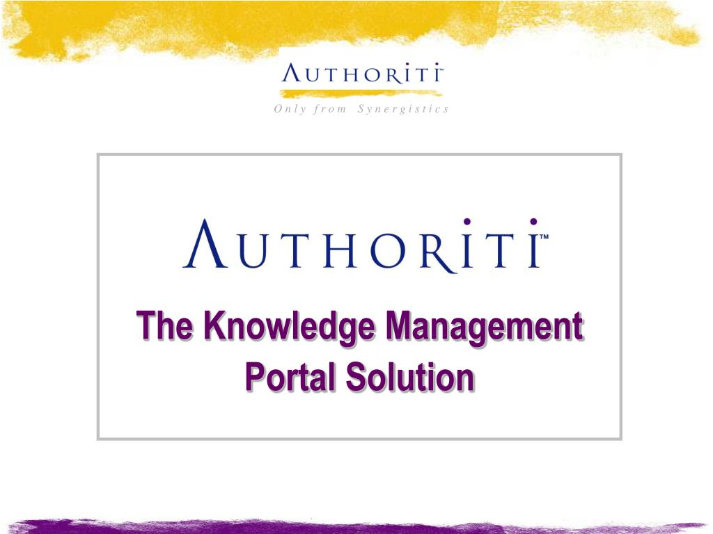 The Knowledge Management Portal Solution