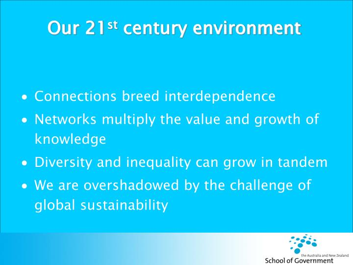Our 21 st century environment