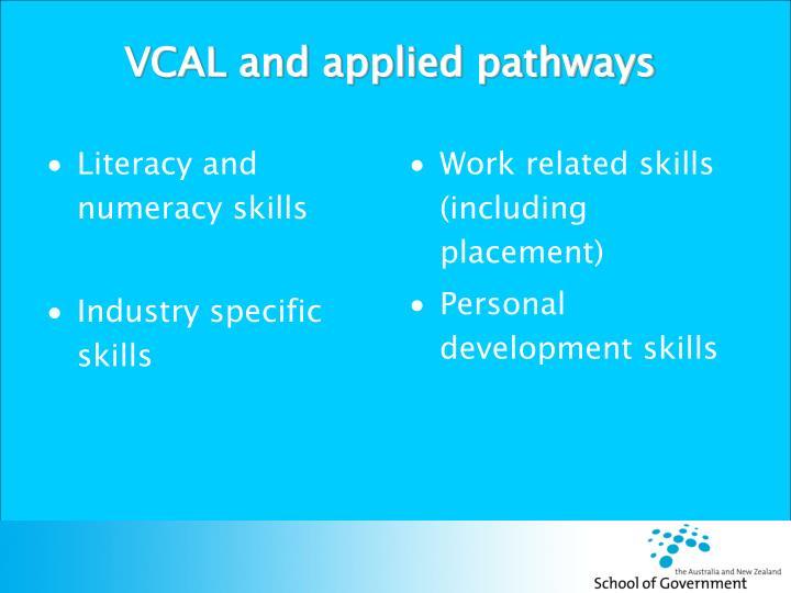 Literacy and numeracy skills