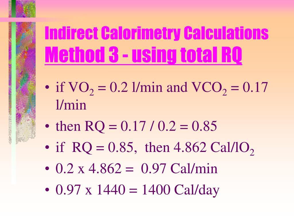 Indirect Calorimetry Calculations