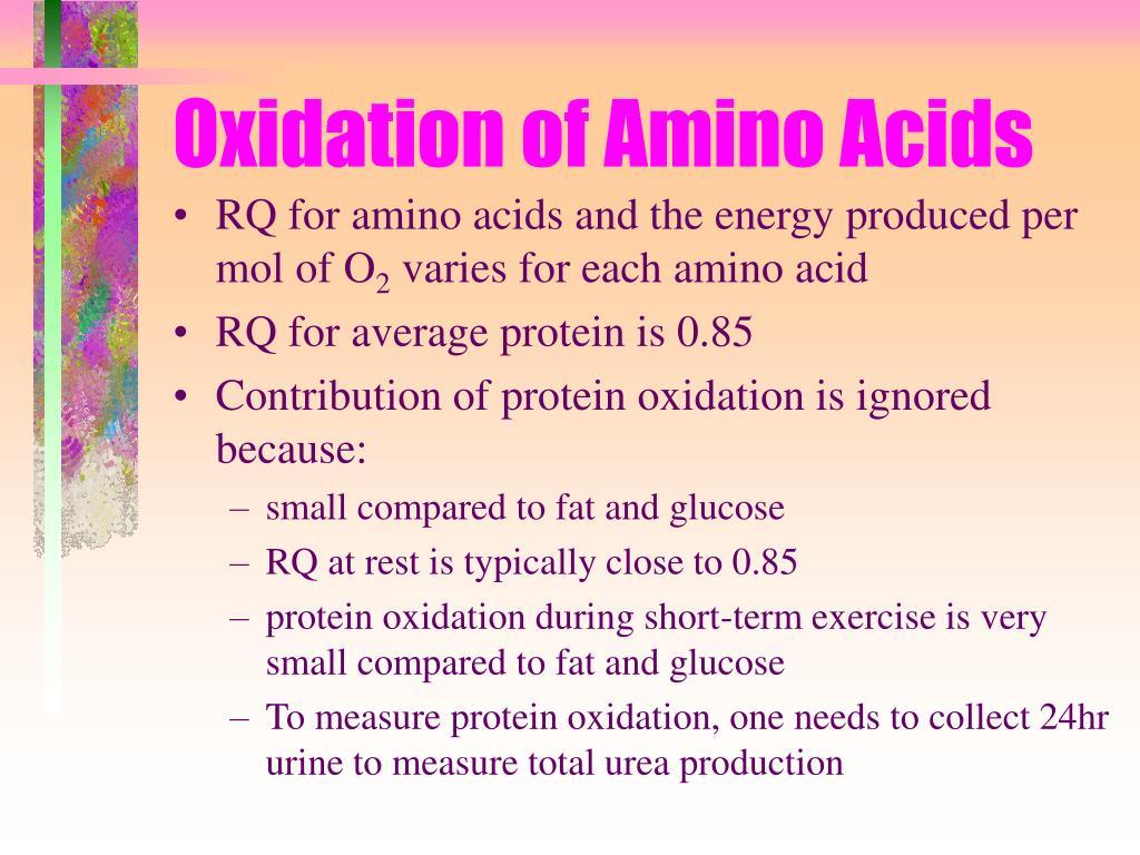 Oxidation of Amino Acids