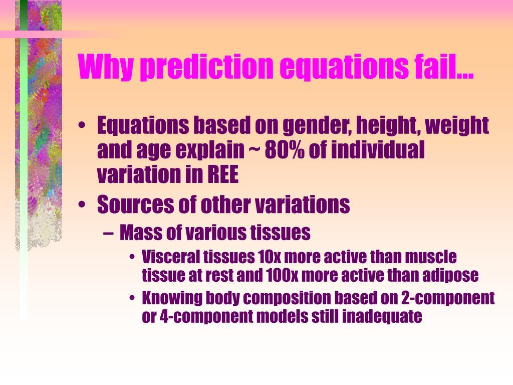 Why prediction equations fail…