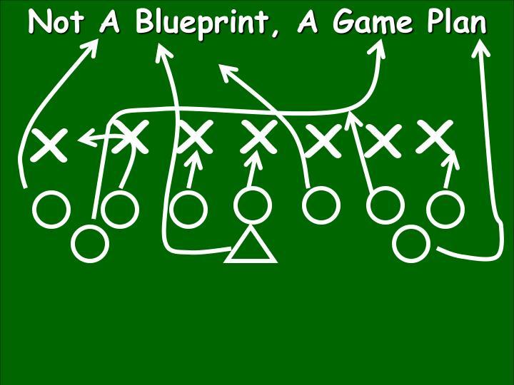 Not A Blueprint, A Game Plan