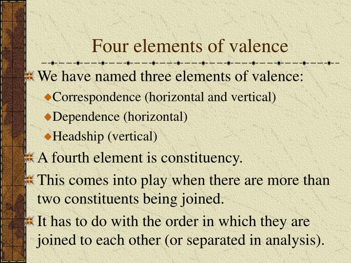Four elements of valence