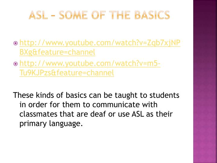 These kinds of basics can be taught to students in order for them to