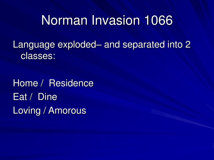 Norman Invasion 1066