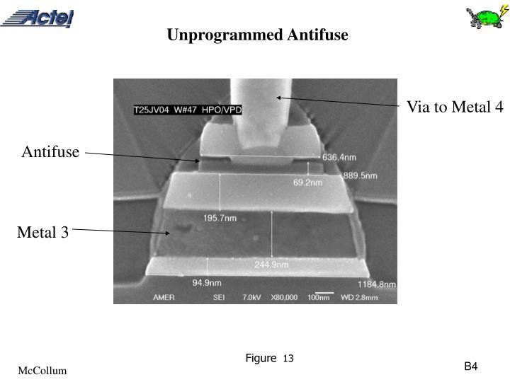 Unprogrammed Antifuse