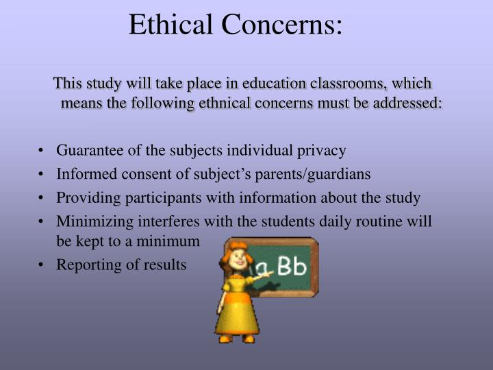 Ethical Concerns: