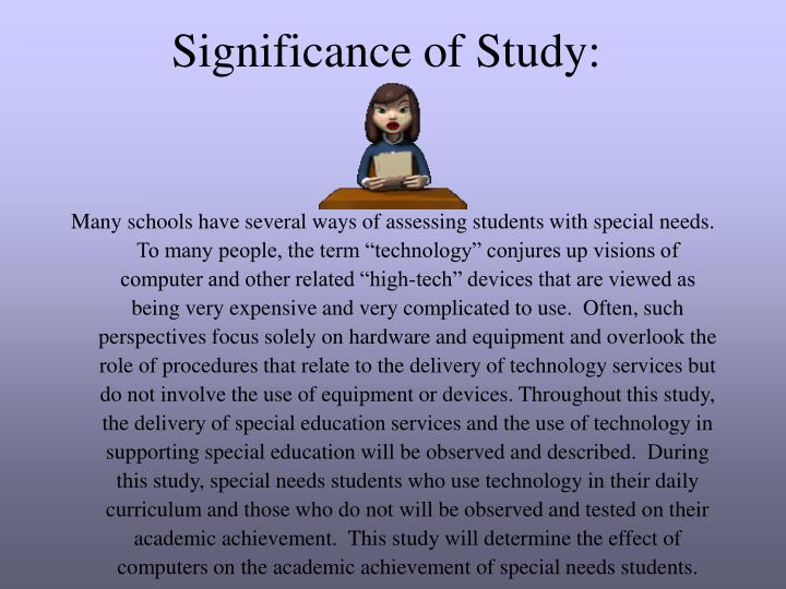 Significance of Study: