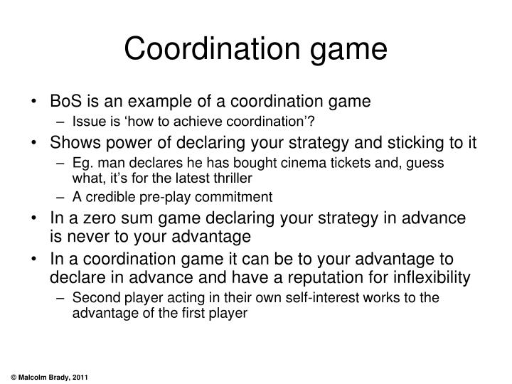 Coordination game