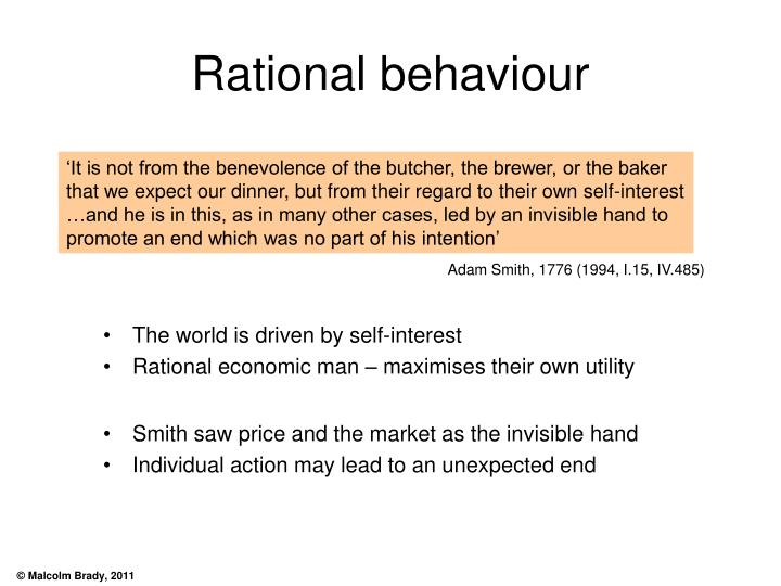 Rational behaviour