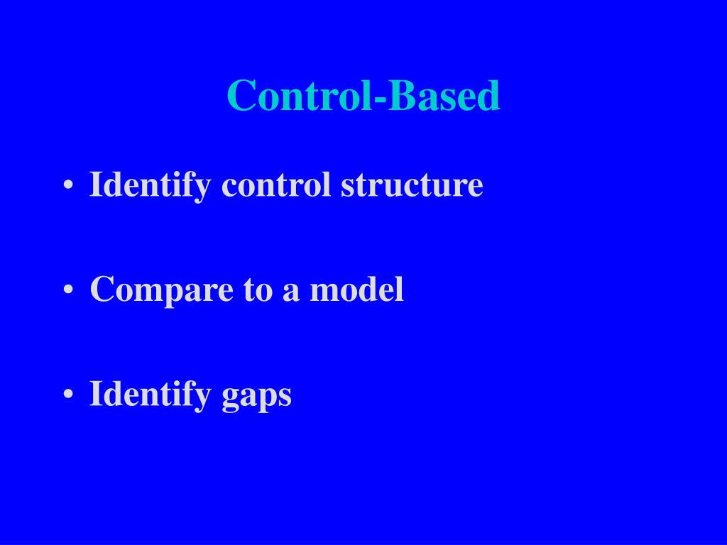 Control-Based