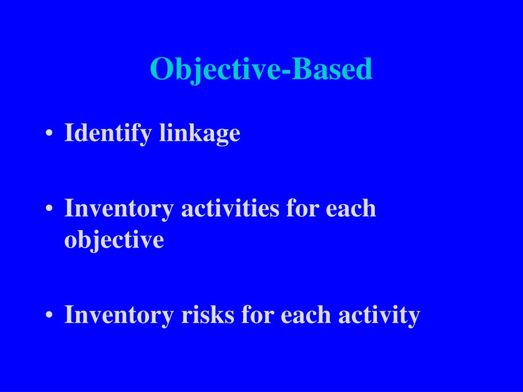 Objective-Based