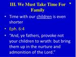 iii we must take time for family2
