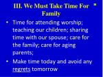 iii we must take time for family3
