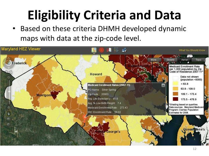 Eligibility Criteria and Data