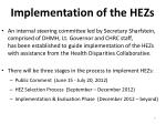 implementation of the hezs