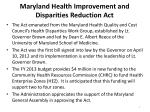 maryland health improvement and disparities reduction act