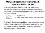 maryland health improvement and disparities reduction act1