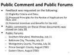 public comment and public forums