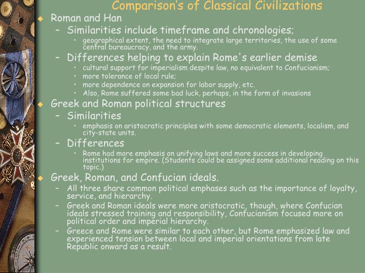 Comparison's of Classical Civilizations