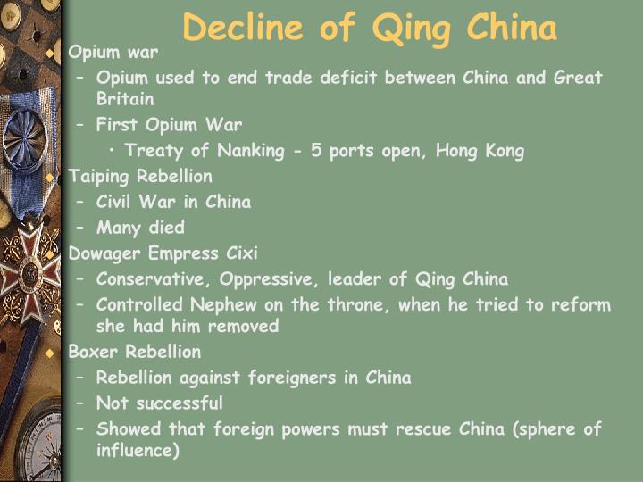 Decline of Qing China