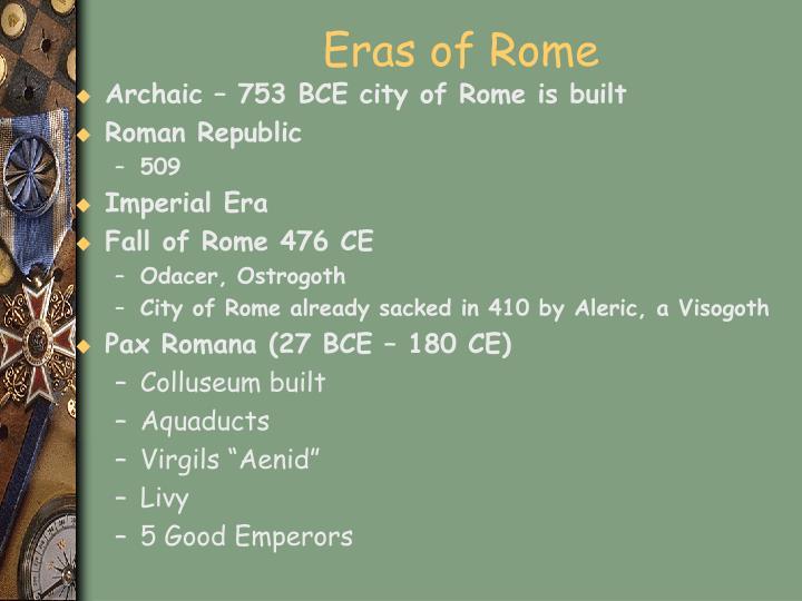 Eras of Rome